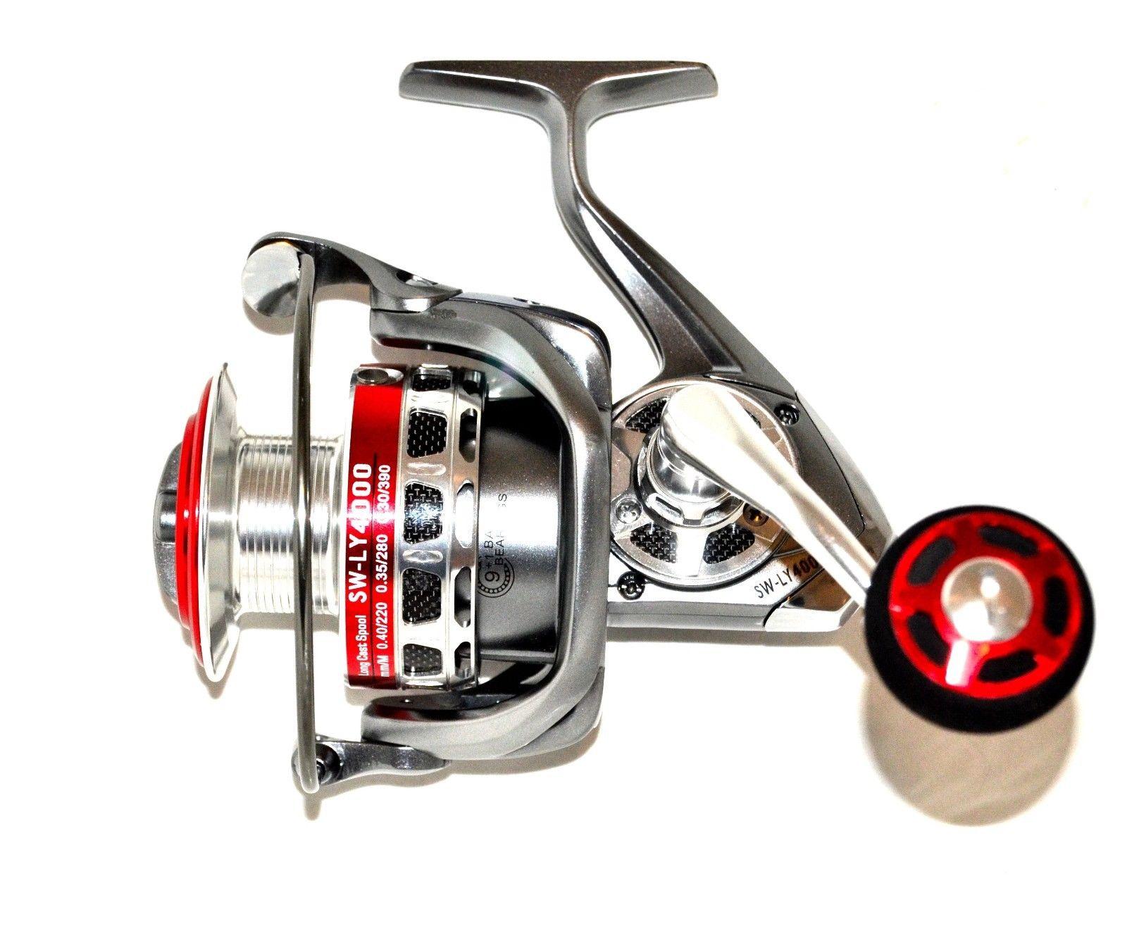 New okiaya phantom ly4000 saltwater spinning sea for Big game fishing reels