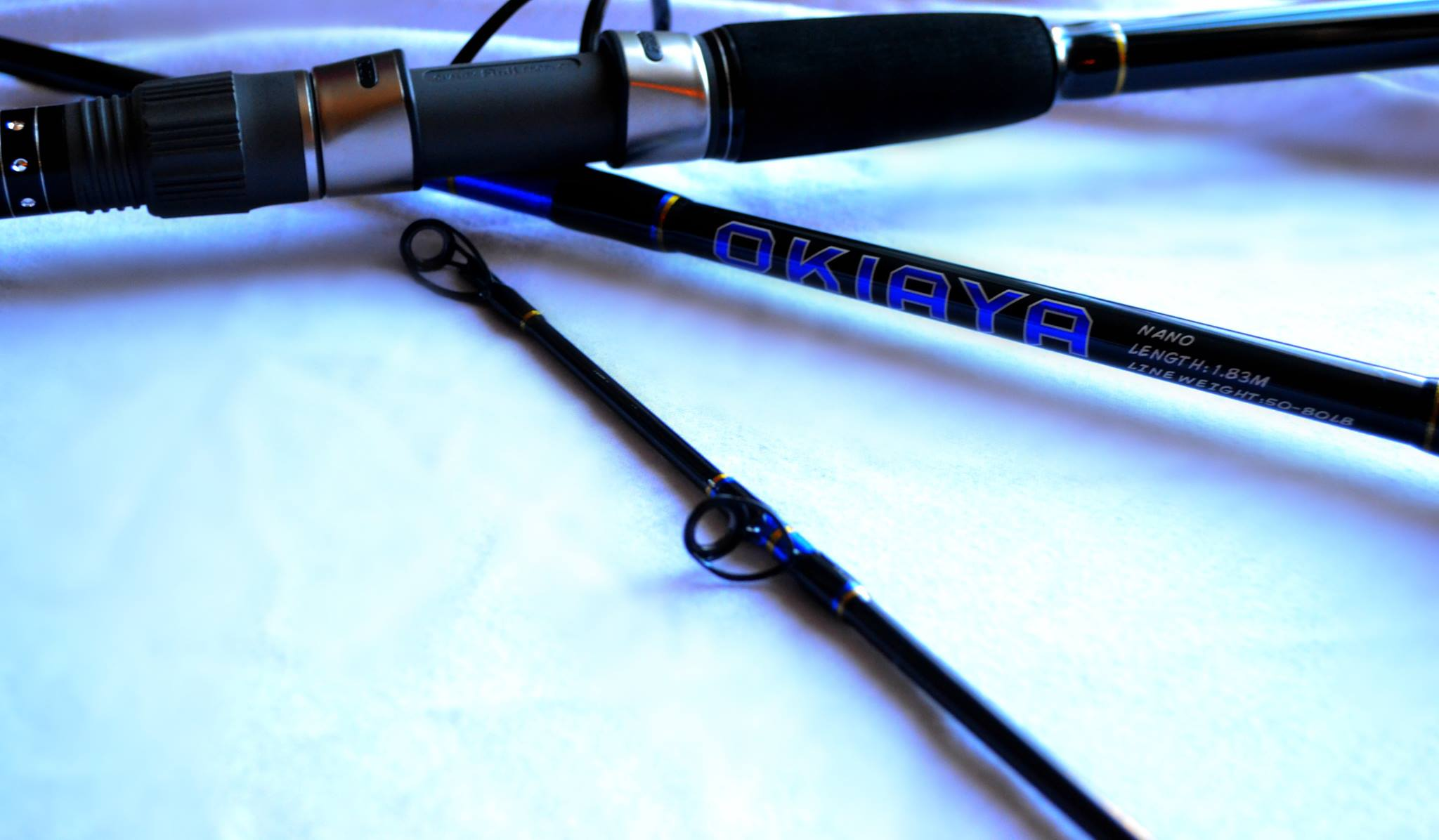 Okiaya carbon nano series 30 50lb tournament rods for Big game fishing rods